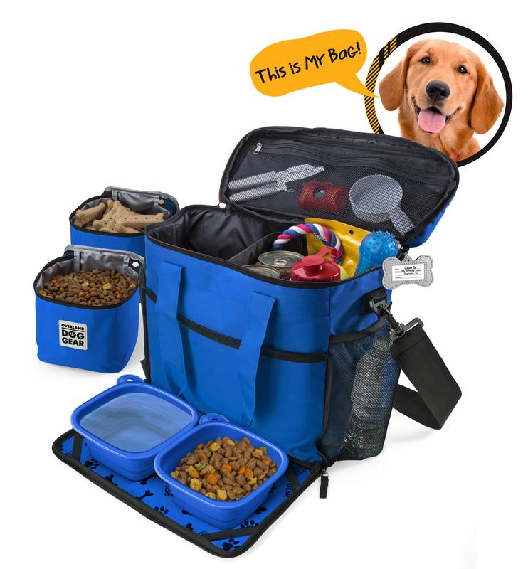 Overland Dog Gear Week Away Bag (Medium & Large Dogs) (Royal Blue)