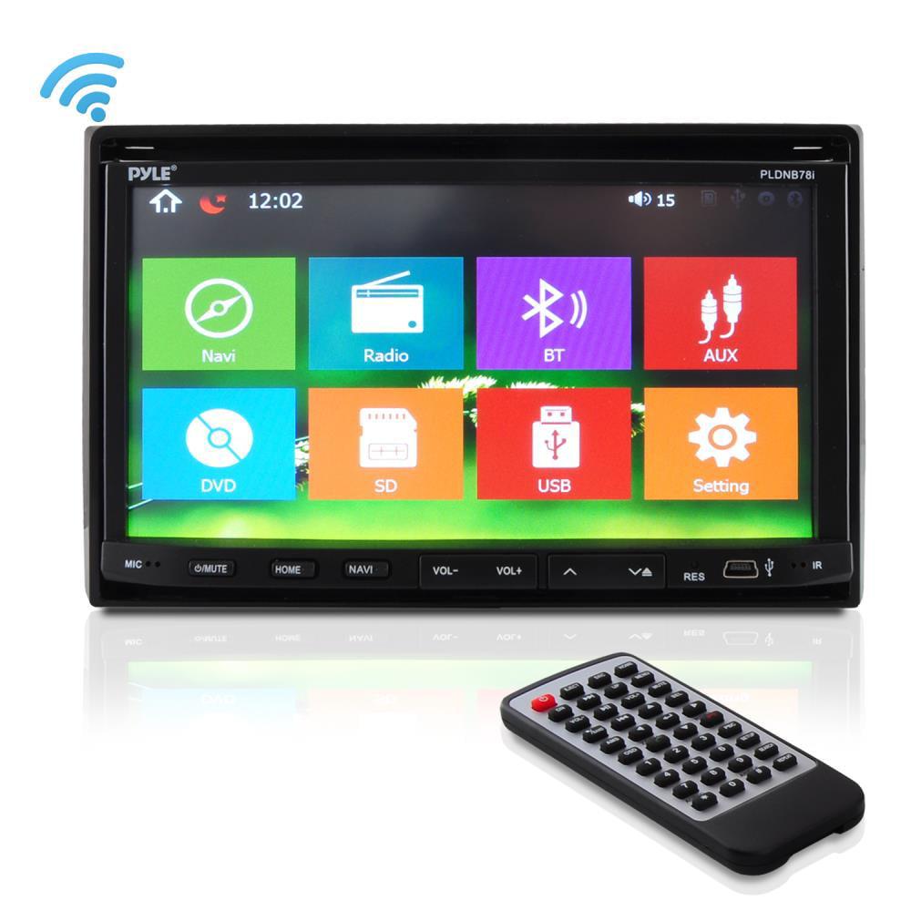 LCD avec t/él/écommande Noir Pyle PLTS78DUB Autoradio multim/édia CD//DVD//MP3//MP4//USB//SD-MMC Radio Bluetooth /écran 18cm TFT