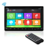 Pyle Bluetooth 7-Inch Car Stereo Headunit Receiver, Built-In Mic, Hands-Free Call Answering, Touch
