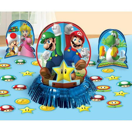 Super Bowl Decorations (Super Mario Brothers Table Decorating)