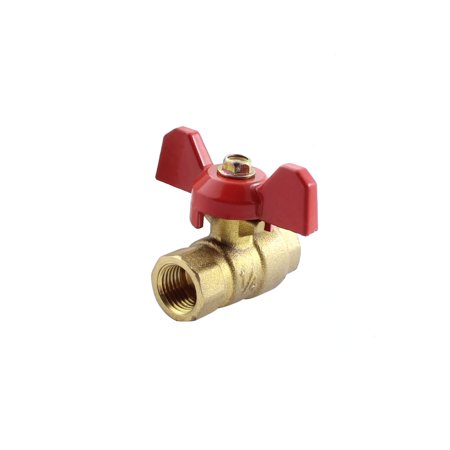 Air Gas Flow Control Tee Handle Full Port Ball Valve Regulator Controller