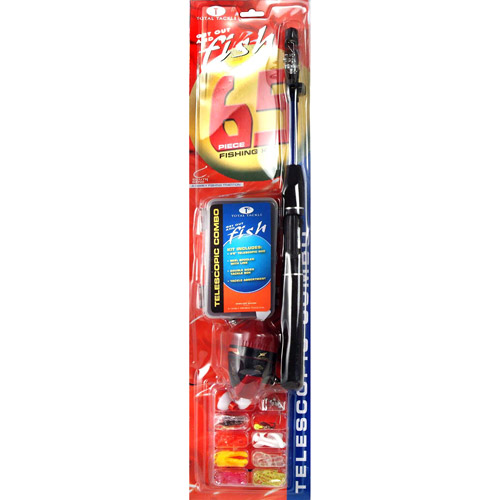 South Bend Telescopic Spincast Fishing Combo with 65-Piece Kit