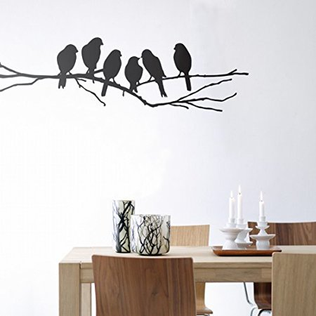 Decal ~ BIRDS ON BRANCH #1 ~ WALL DECAL: 11