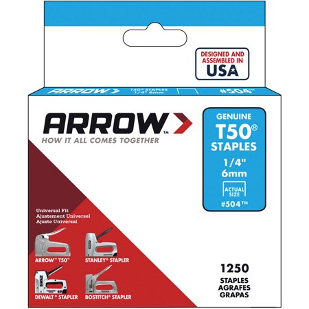 Arrow Fastener T50 1 4  Staples