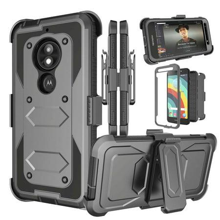 new products d8c12 5c9f3 Motorola Moto E5 Cruise Case, Moto E5 Play Case Holster Belt Clip, Njjex  [Built-in Screen Protector] & Kickstand & Holster Belt Clip [Heavy Duty] ...