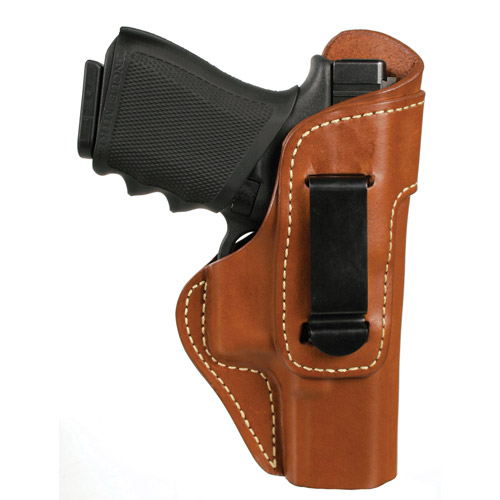 BLACKHAWK! Leather Inside-The-Pants with Clip Holster, Brown Glock 17/19/22/23/31/32/36, Left Hand