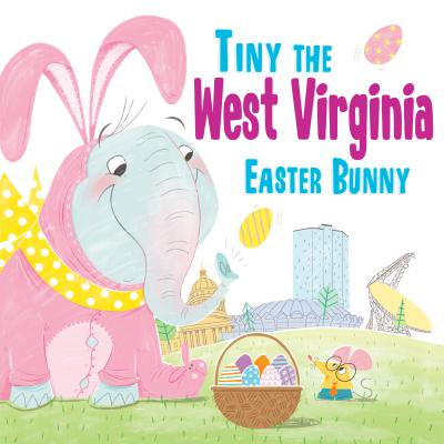 Tiny the West Virginia Easter Bunny - Easter Bunny Coloring Page