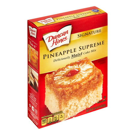 (2 Pack) Duncan Hines SIGNATURE LAYER CAKE MIX Pineapple 15.25