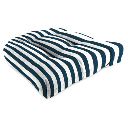 Jordan Manufacturing 18 in. Wicker Outdoor Chair Cushion - Stripe Oxford ()