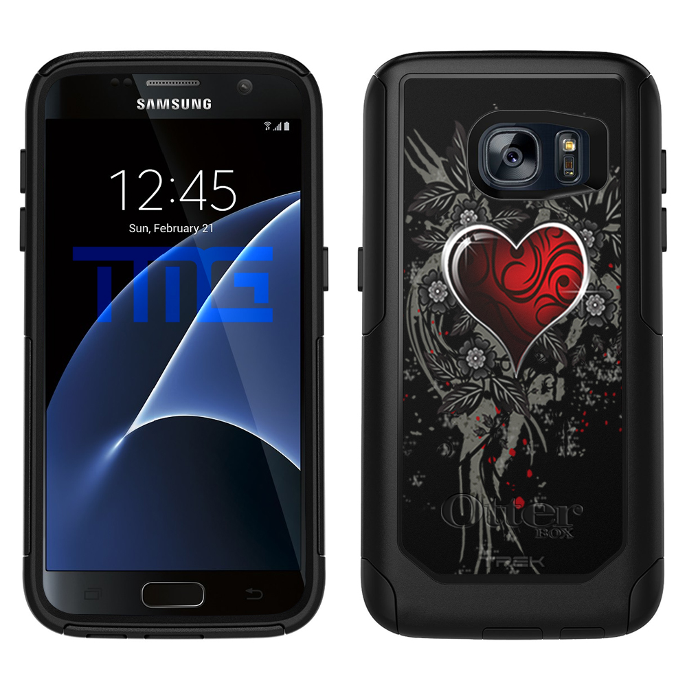 OtterBox Commuter Samsung Galaxy S7 Case - Highlighted Heart Red on Black OtterBox Case
