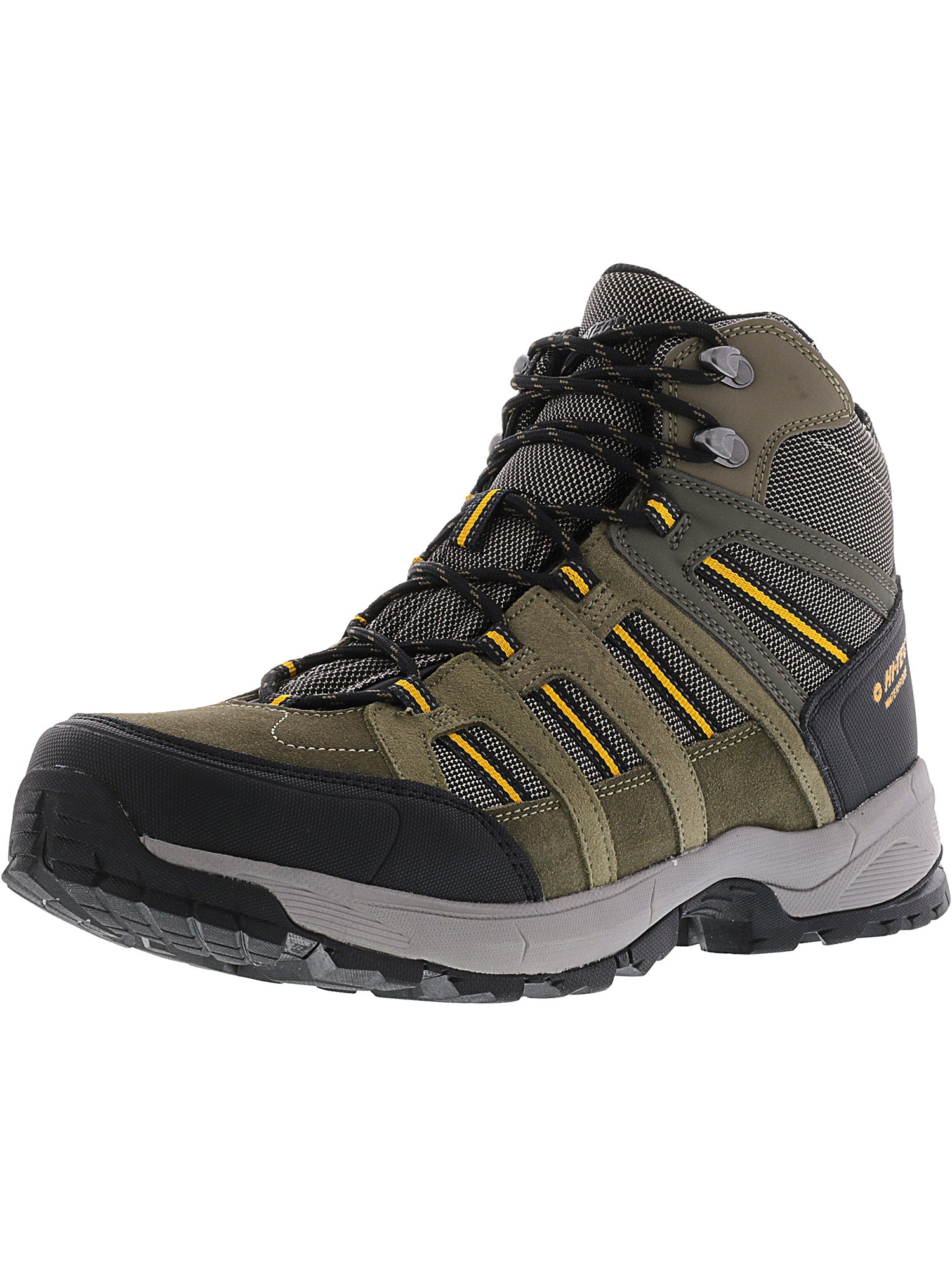 Hi-Tec Men's Galveston Mid Waterproof Taupe   Dark Core Gold Ankle-High Suede Hiking Boot 13M by Hi-Tec