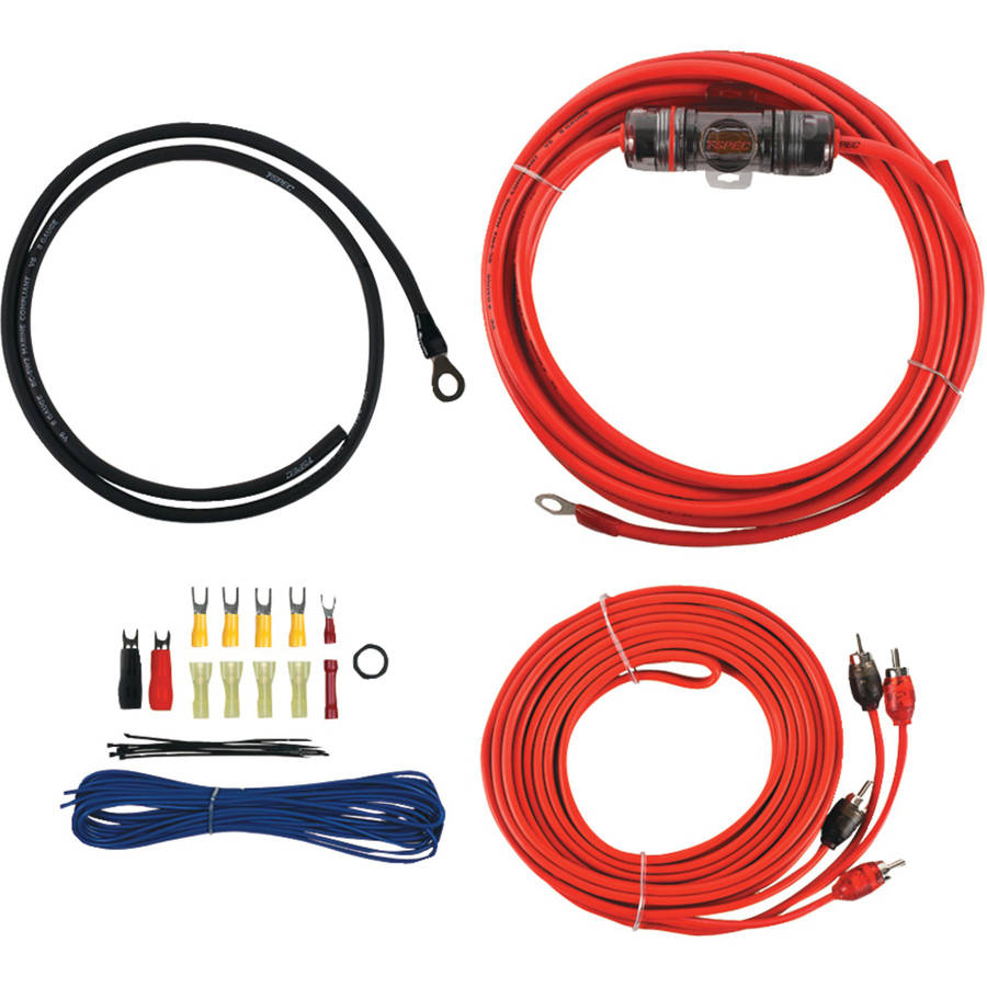 T-Spec V6-rak8 V6 Series Amp Installation Kit with RCA Cables, 8 Gauge