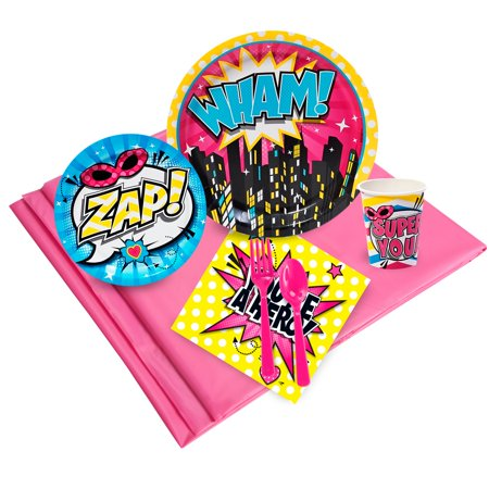 Superhero Girl Party Pack - Girls Superhero Party Supplies