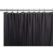 Black 3 Gauge Vinyl Shower Curtain Liner with Weighted Magnets and Metal Grommets