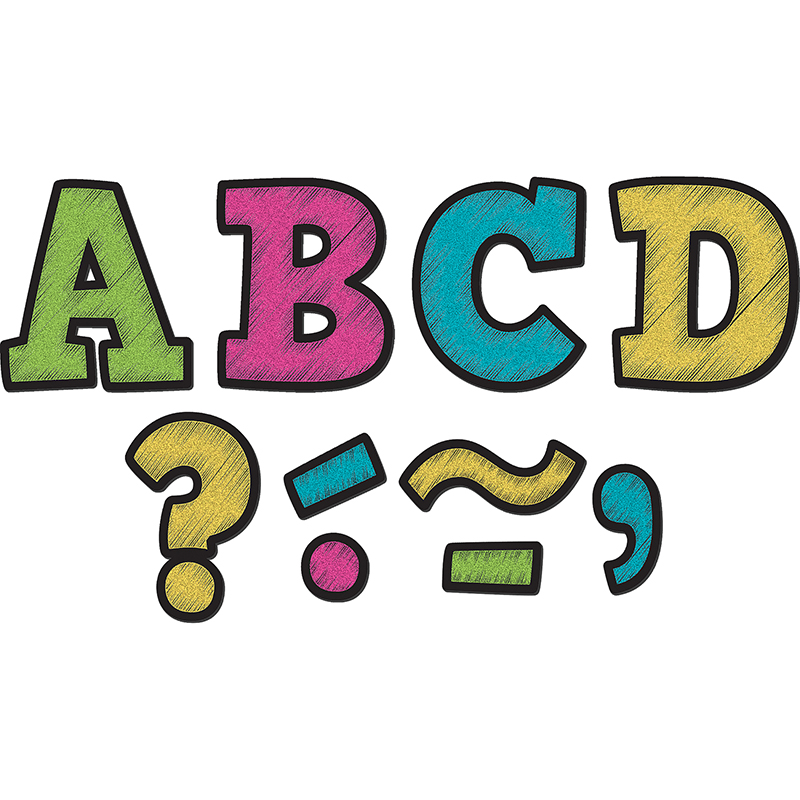 "Teacher Created Resources 3"" Bold Block Magnet Letters"
