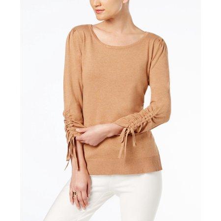 INC $59.5 NEW 22716 Drawstring-Sleeve Sweater Womens Top M
