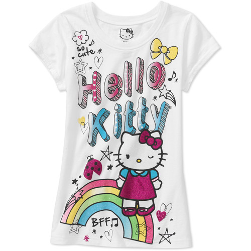 Hello Kitty Girls Short Sleeve Graphic Tee