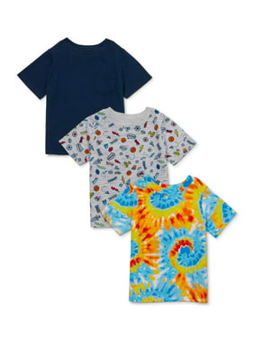 Garanimals Baby Boy Print & Solid Tees Multi-Pack, 3pc