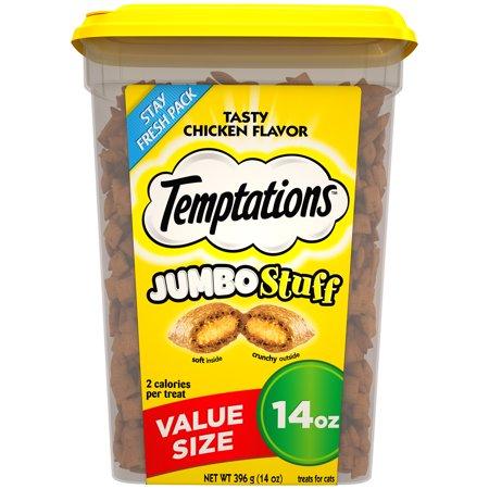 TEMPTATIONS Jumbo Stuff Cat Treats, Tasty Chicken Flavor, 14 oz. Tub](Tasty Treats To Make For Halloween)