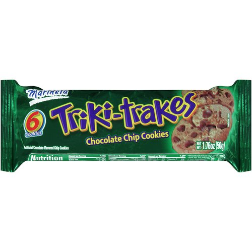 Marinela Triki-Trakes Chocolate Chip Cookies, 6 count, 1.76 oz