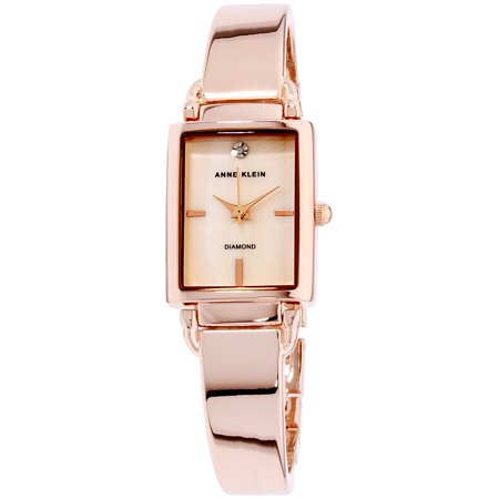 Anne Klein Women's Classic Mother Of Pearl Dial Stainless Steel Watch AK-2494BMRG