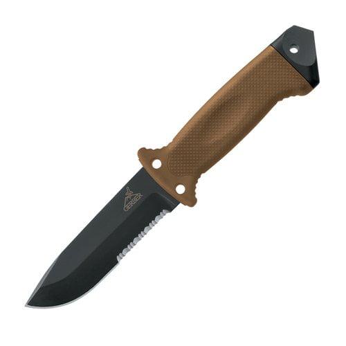 Gerber 1400 LMF II ASEK, Tan Handle, ComboEdge, Nylon Sheath