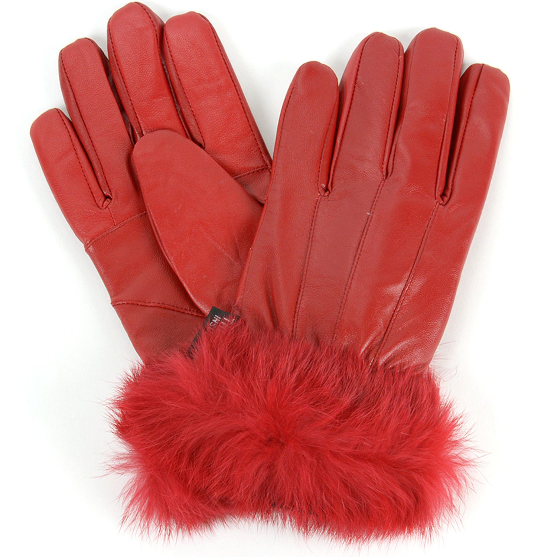 cee244e7cc88 Alpine Swiss Womens Gloves Leather Thermal Lining Rabbit Fur Cuff