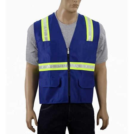 Safety Depot Large Reflective Vest with Pockets Standard Safety Vest (Pink Womens Safety Vest)