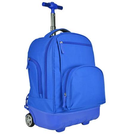 Single Pole Rolling Backpack - Treasureland Kids Hybrid Lightweight Rolling Backpack