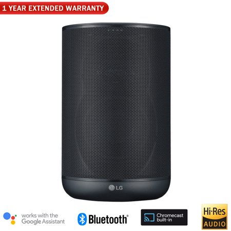Lg Chocolate Speaker (LG WK7 ThinQ Speaker w/ Bluetooth & High Resolution Audio + 1 Year Extended)