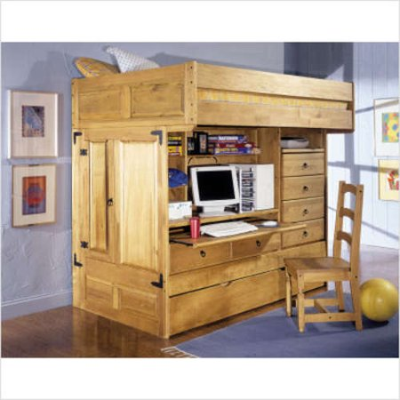 powell furniture rustica full twin all in one bunk bed. Black Bedroom Furniture Sets. Home Design Ideas
