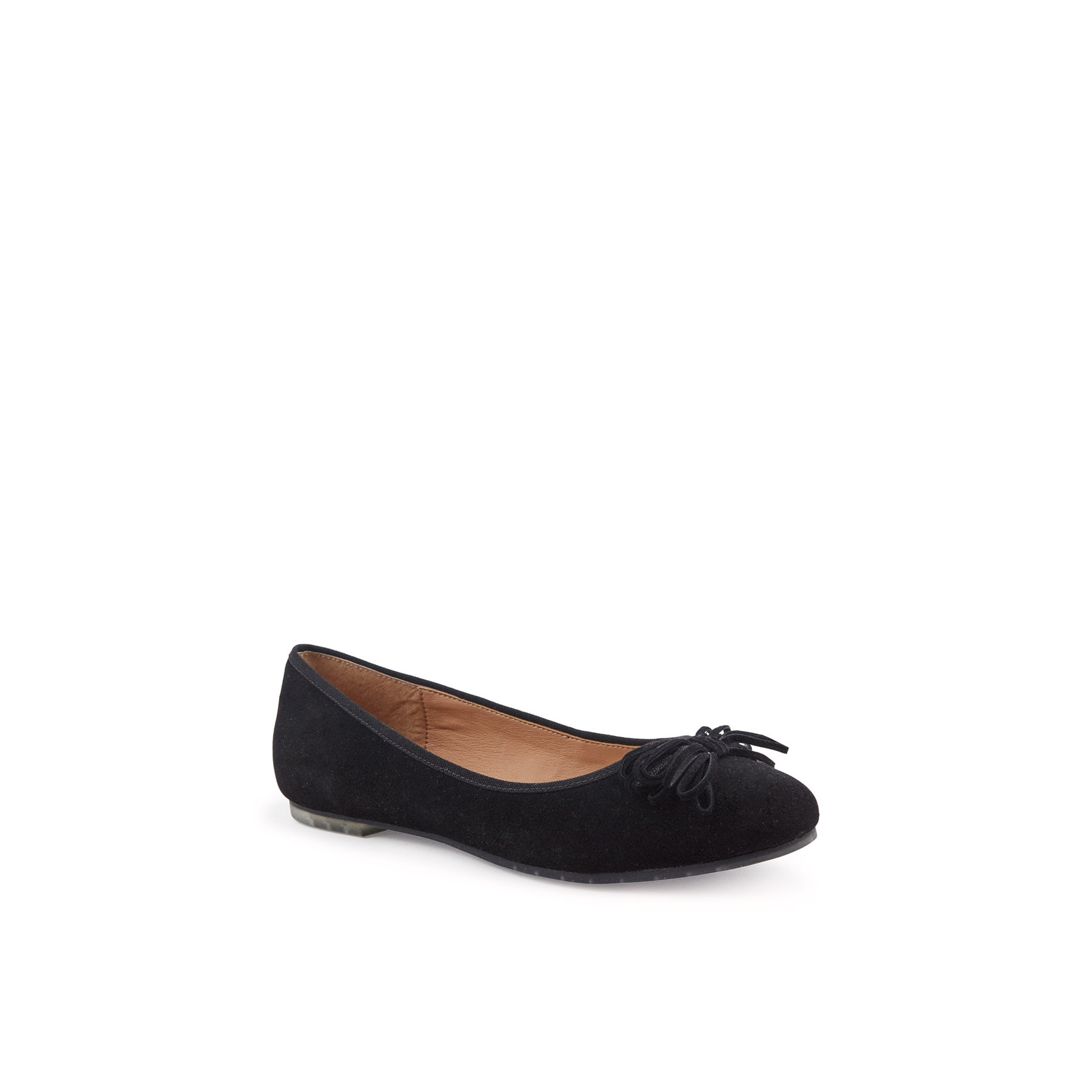 Me Too Women's Cassi Black Suede Flat by Overstock