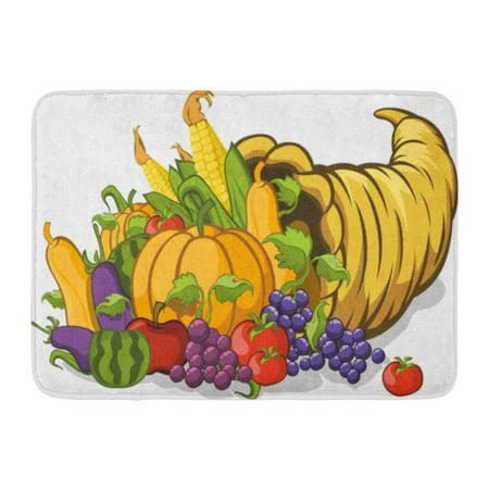 GODPOK Food Basket Cornucopia Horn of Plenty Corn Healthy Rug Doormat Bath Mat 23.6x15.7 inch - Cornucopia Baskets