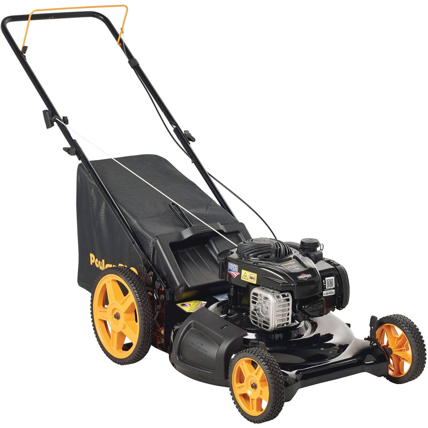 "Poulan Pro 21"" 140cc Gas 3-in-1 Lawn Mower with High-Rear Wheels"