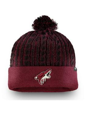 Arizona Coyotes Fanatics Branded Women's Iconic Ace Cuffed Knit Hat with Pom - Garnet - OSFA