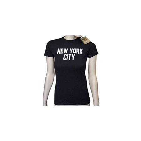 Ladies New York City T Shirt Black White Nyc Tee Womens