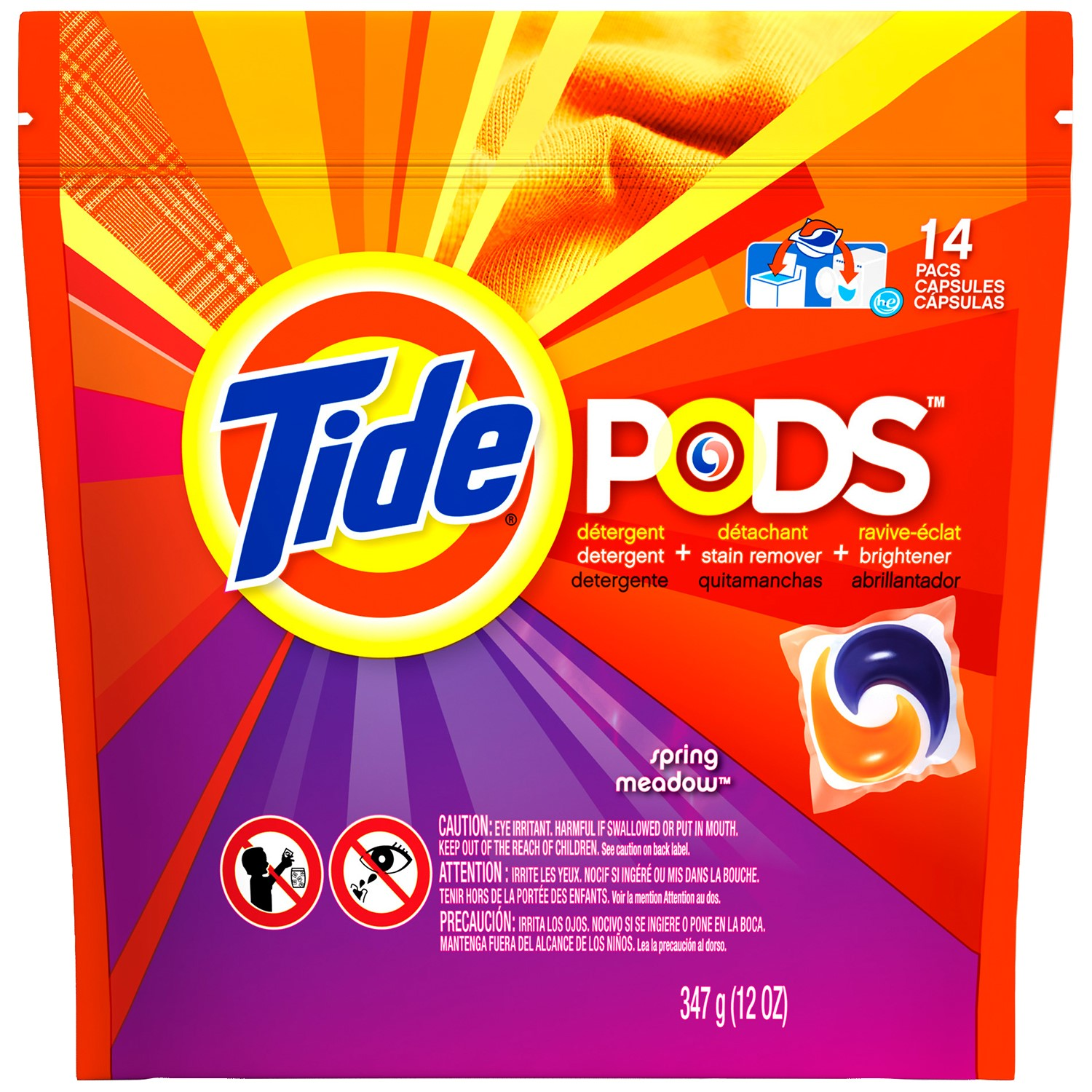 Tide Pods Laundry Detergent, Spring Meadow, 14 Loads