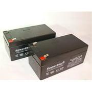 PowerStar PS12-3.3-2Pack2 12V 3.3Ah UB1234 BP3-12 ES3-12 PW1203 Battery - 2 Pack