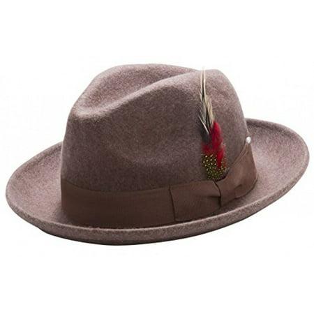 Montique Untouchable Men's Felt Hat (Small, - Felt Hillbilly Hats