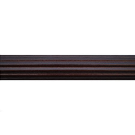 Wood Trends 1 3/8 Inch Fluted Wood Poles (6 Ft, Mahogany)
