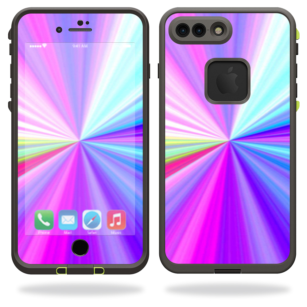 MightySkins Protective Vinyl Skin Decal for Lifeproof iPhone 7 Plus Case fre Case wrap cover sticker skins Rainbow Zoom
