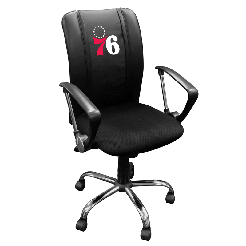 Philadelphia 76ers NBA Curve Task Chair with Primary Logo Panel