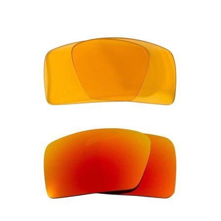 ada1e85e3c Best SEEK Replacement Lenses for Oakley EYEPATCH 1 HI Yellow Yellow Mirror  - Walmart.com
