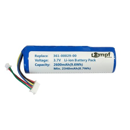 mpf products 2600mah high capacity extended 010-10806-01, 010-10806-20, 361-00029-00, 361-00029-01 battery replacement compatible with garmin astro dc20, dc30, dc40 gps dog tracking collar transmitter