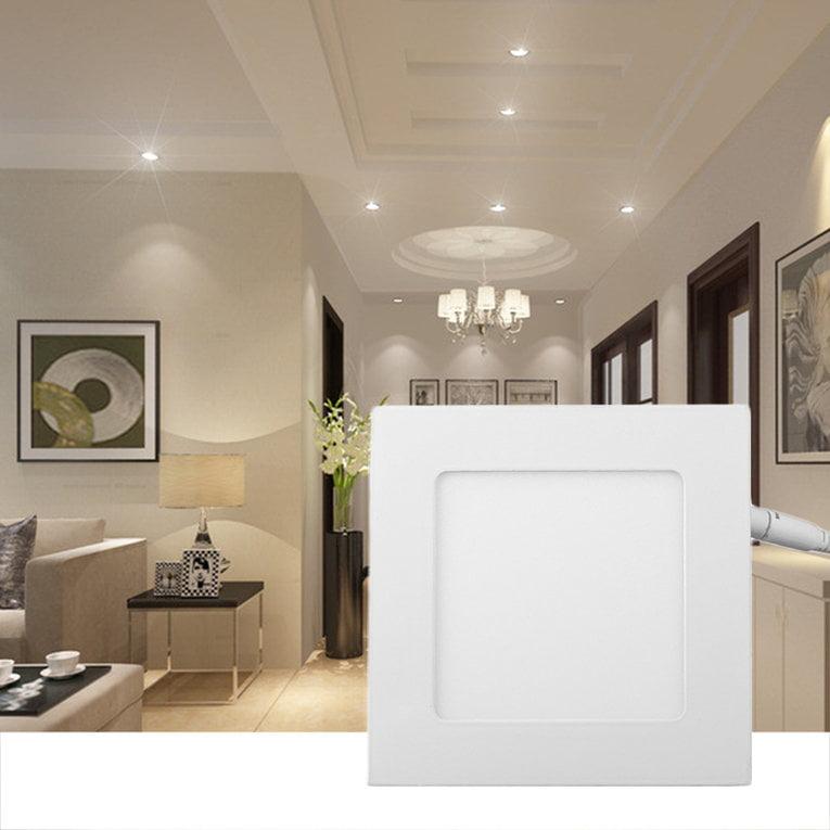 Warm White Square 10 Pcs 6W Led Recessed Ceiling Panel Down Light Bulb Lamp 85-265V Ac