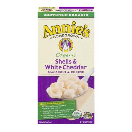 Annie's ® Organic Shells & White Cheddar Macaroni & Cheese 6 oz Box