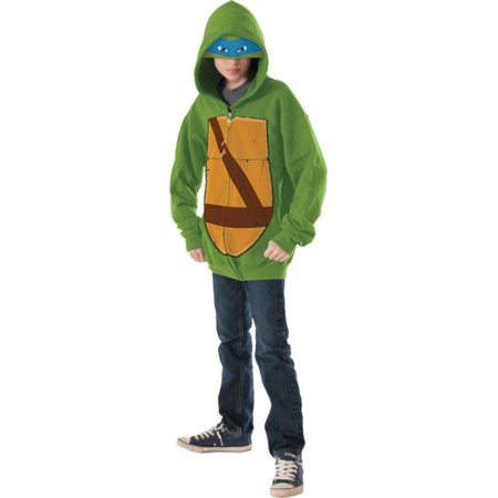 Boy's Teenage Mutant Ninja Turtles TMNT Leonardo Hoodie Eyemask Costume