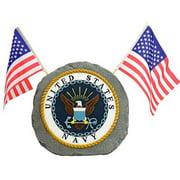 Red Carpet Studios 35184 Patriotic Garden Stone, Navy