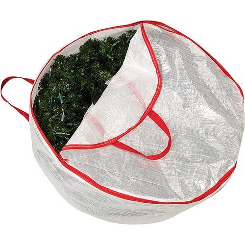 "Household Essentials Mighty Stor Translucent 30"" Circular Wreath Bag"