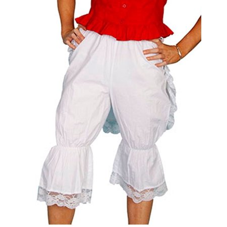Scully Western Bloomers Womens Cotton Solid Knee High Ruffles RW572](Western Shot)